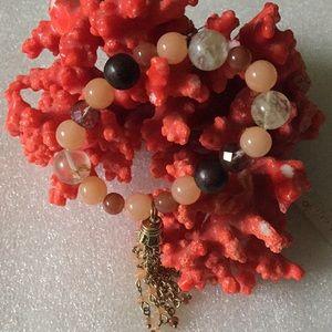 Vintage beads tassel bracelet